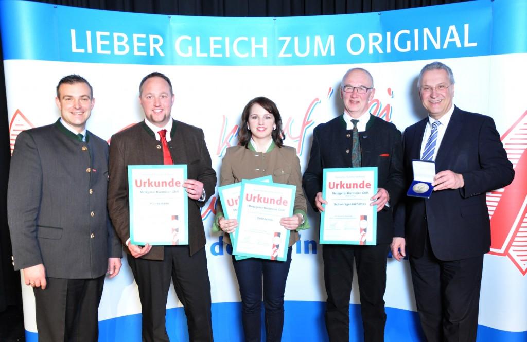 Auszeichnungen 2015 durch den Fleischerverband Bayern und Innenminister Joachim Herrmann